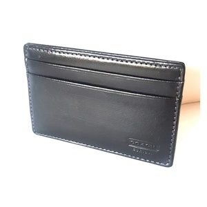 COACH Slim Wallet Black Leather NEW